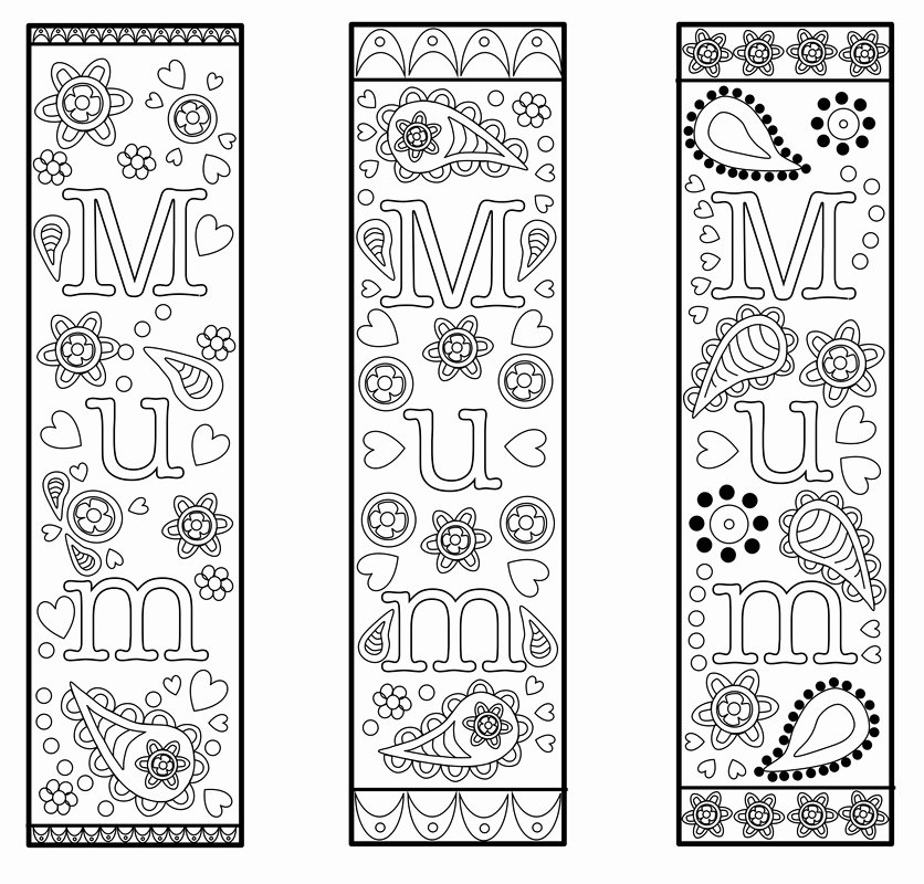 Bookmark Template for Pages Lovely Free Printable Bookmark Template for Mothers Day or Mum