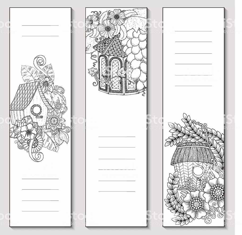 Bookmark Template for Pages Lovely Template Design Bookmarks isolated Coloring Page Mockup