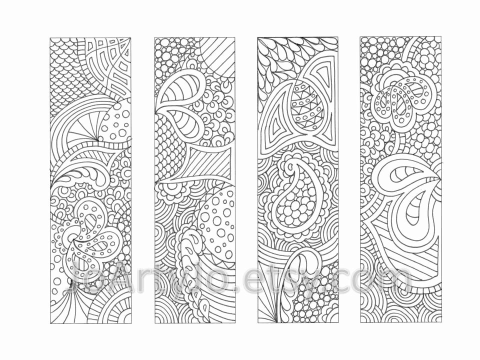 Bookmark Template for Pages New Printable Bookmarks Coloring Page Zendoodle Zentangle