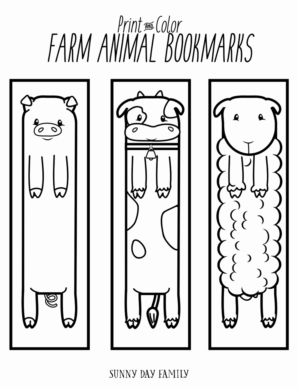 Bookmark Template for Pages Unique Free Printable Farm Animal Bookmarks for Kids to Color