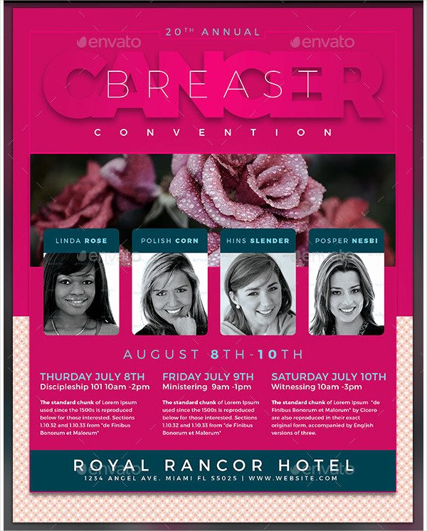 Breast Cancer Flyer Template Awesome 23 Cancer Awareness Flyer Templates Free & Premium Download