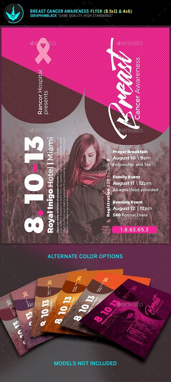 Breast Cancer Flyer Template Beautiful Breast Cancer Awareness Flyer Template