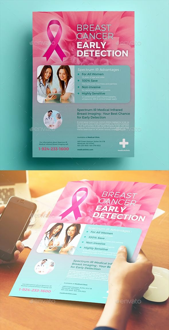 Breast Cancer Flyer Template Beautiful Breast Cancer Flyer 02 This Flyer Can Be Used to Advertise