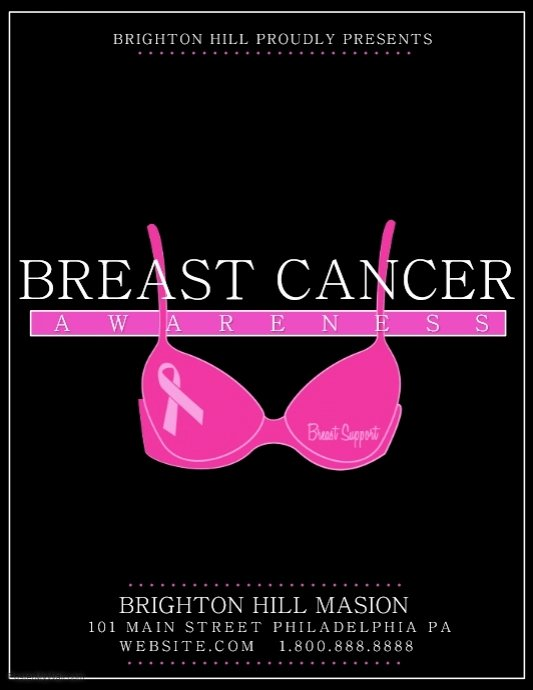 Breast Cancer Flyer Template Beautiful Breast Cancer Template