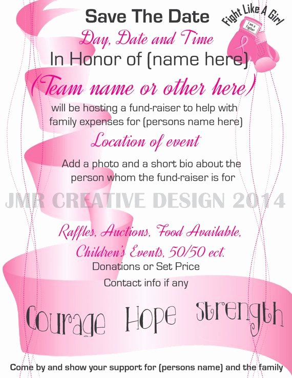 Breast Cancer Flyer Template Best Of 15 Best Fundraiser Benefit Flyers for Cancer and Health