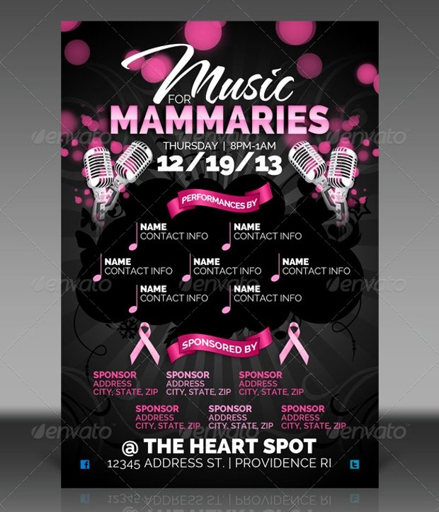 Breast Cancer Flyer Template Best Of 18 Breast Cancer Awareness Flyer Templates Printable