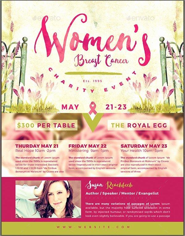 Breast Cancer Flyer Template Elegant 15 Breast Cancer Flyer Design Templates Psd Ai Vector