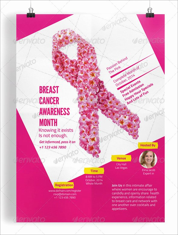 Breast Cancer Flyer Template Elegant 20 Breast Cancer Flyer Templates & Creatives Psd Ai