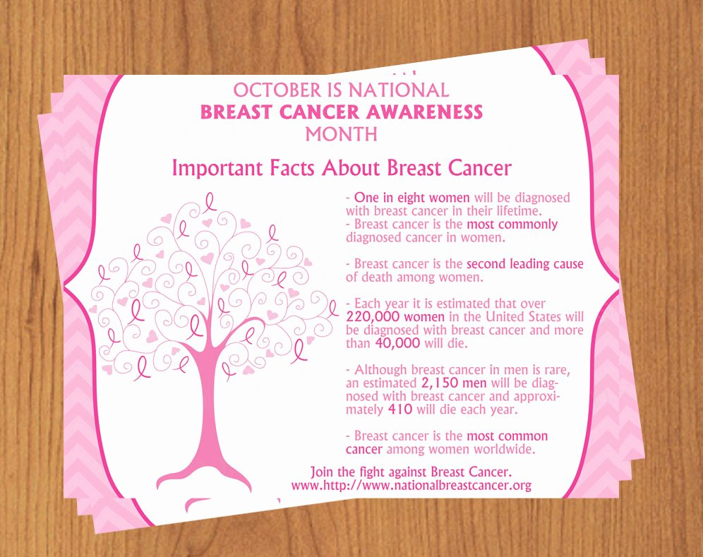 Breast Cancer Flyer Template Elegant Breast Cancer Awareness Flyer Editable Template Microsoft