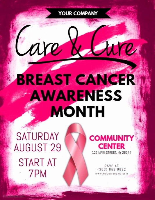 Breast Cancer Flyer Template Elegant Breast Cancer Awareness Flyer Template