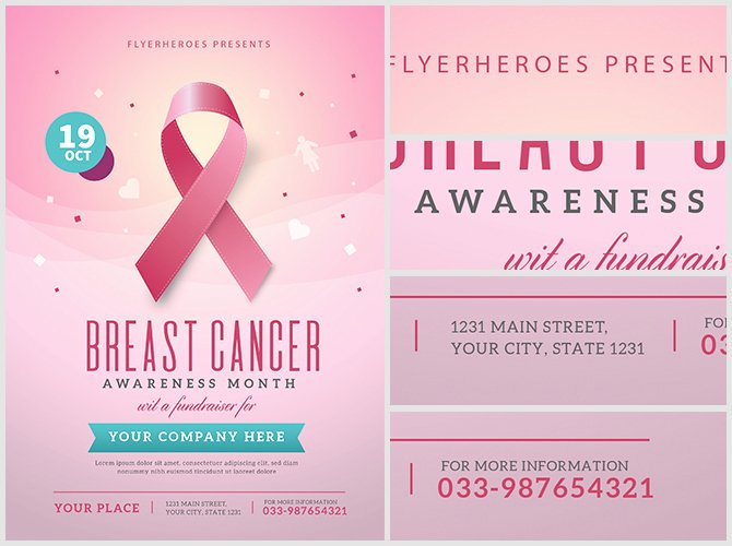 Breast Cancer Flyer Template Elegant Breast Cancer Awareness Month Flyer Template Flyerheroes