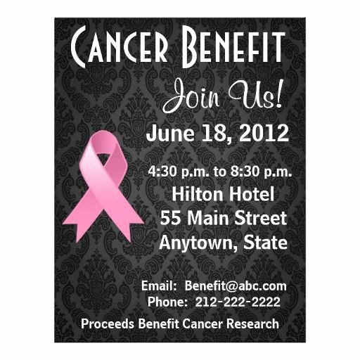 Breast Cancer Flyer Template Fresh 15 Best Fundraiser Benefit Flyers for Cancer and Health
