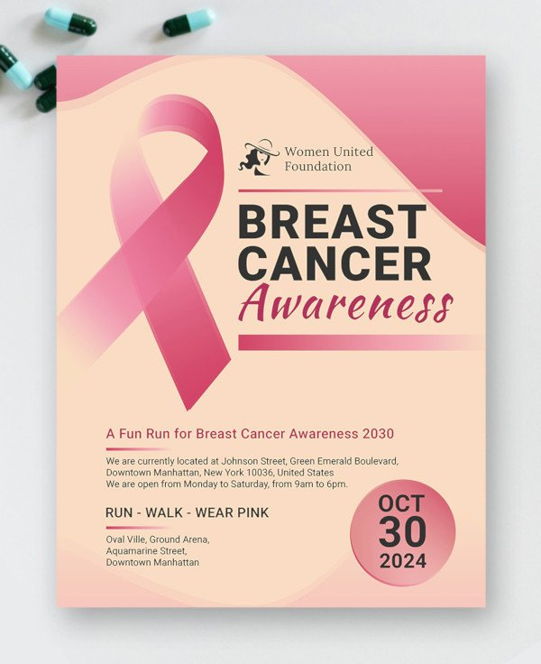 Breast Cancer Flyer Template Fresh 15 Breast Cancer Flyer Design Templates Psd Ai Vector