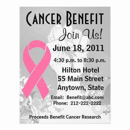 Breast Cancer Flyer Template Fresh Breast Cancer Personalized Benefit Flyer