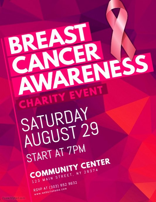 Breast Cancer Flyer Template Lovely Breast Cancer Awareness Flyer Template