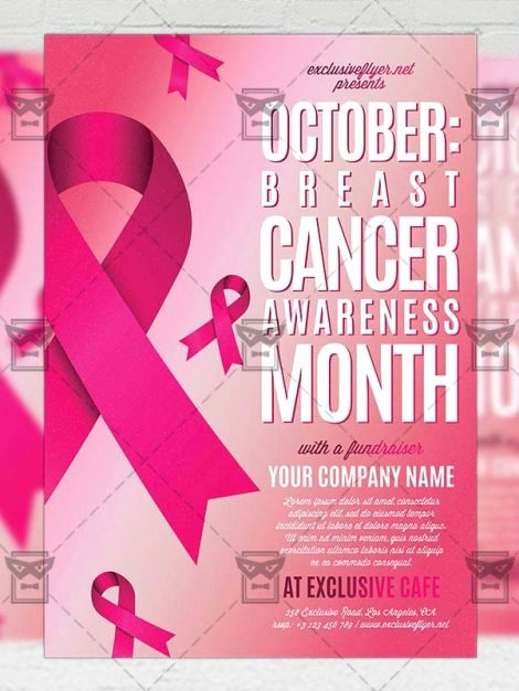 Breast Cancer Flyer Template Luxury Breast Cancer Awareness Month – Munity A5 Flyer