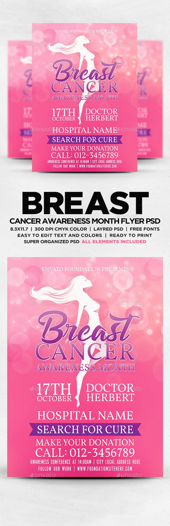 Breast Cancer Flyer Template Luxury Printable Breast Cancer Ribbon Template Tinkytyler