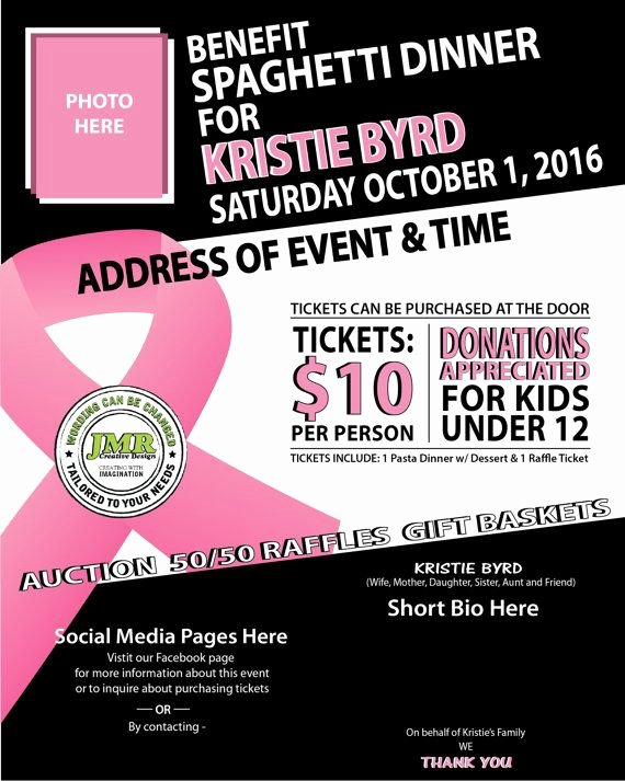 Breast Cancer Flyer Template New Cancer Benefit Flyer Fundraiser Flyer Cancer Ribbon