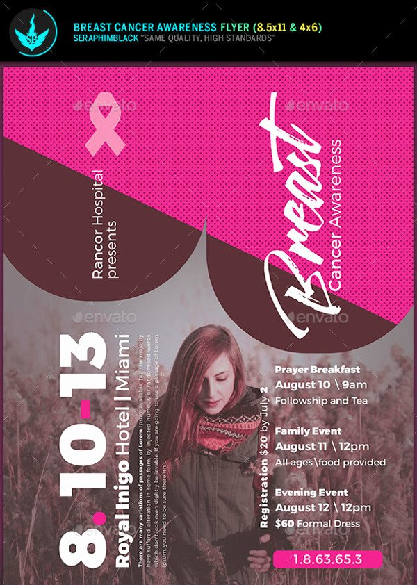 Breast Cancer Flyer Template Unique 20 Breast Cancer Flyer Templates & Creatives Psd Ai
