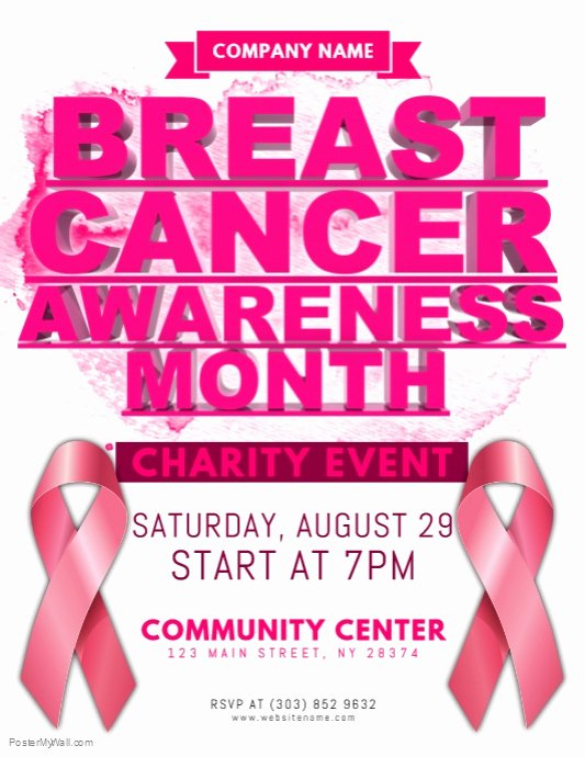 Breast Cancer Flyer Template Unique Copy Of Breast Cancer Awareness Flyer