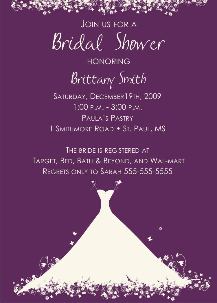 Bridal Shower Invitations Template Awesome Bridal Shower Invitation Verbiage Bridal Shower