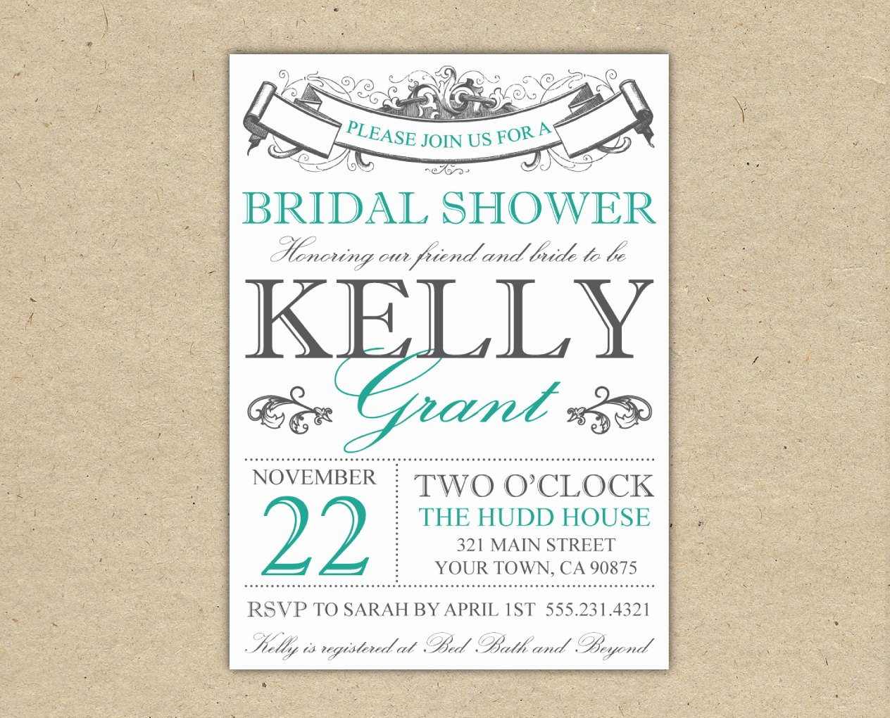 Bridal Shower Invitations Template Awesome Bridal Shower Invitations Bridal Shower Invitations Free