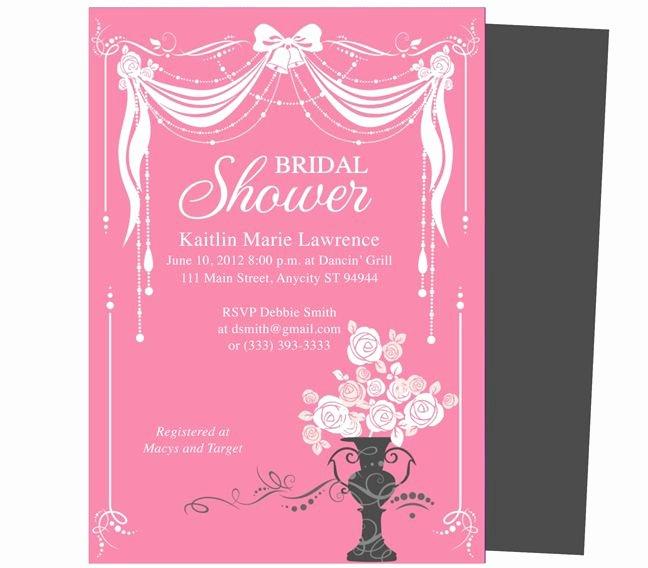 Bridal Shower Invitations Template Beautiful Bridal Shower Invitations Microsoft Word Bridal Shower