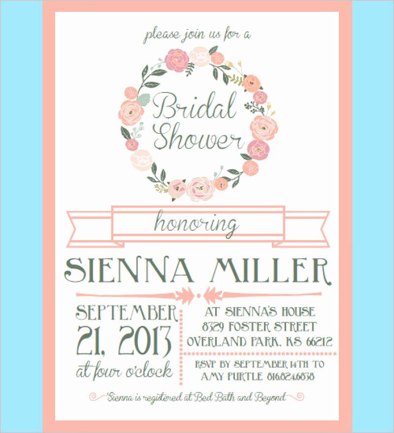 Bridal Shower Invitations Template Beautiful Bridal Shower Invites Templates – orderecigsjuicefo