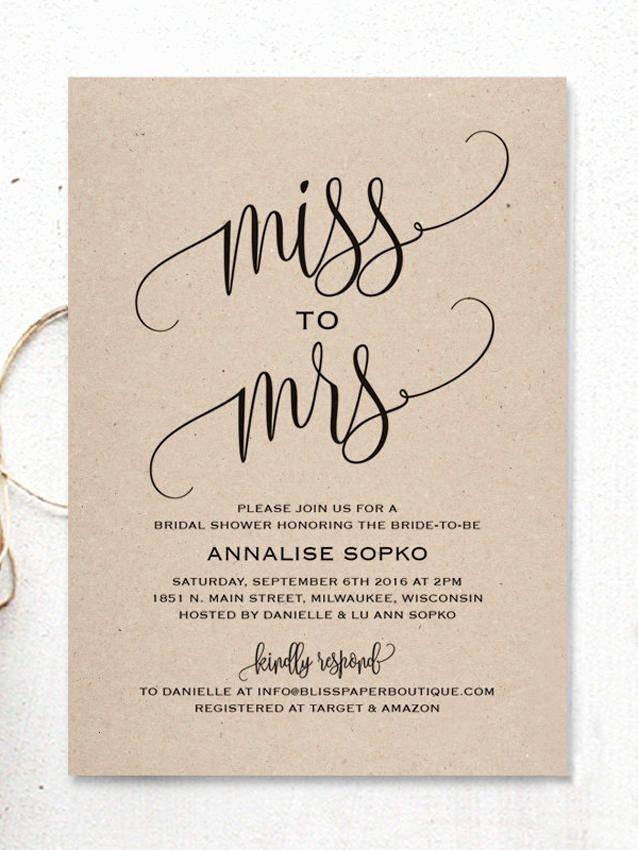 Bridal Shower Invitations Template Elegant Best 25 Bridal Shower Invitations Ideas On Pinterest