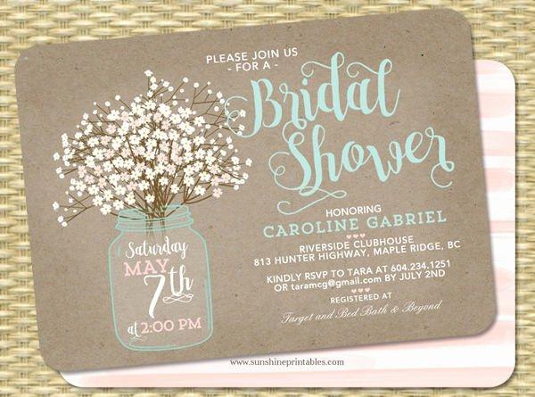 Bridal Shower Invitations Template Inspirational 51 Printable Bridal Shower Invitation Designs Psd Ai