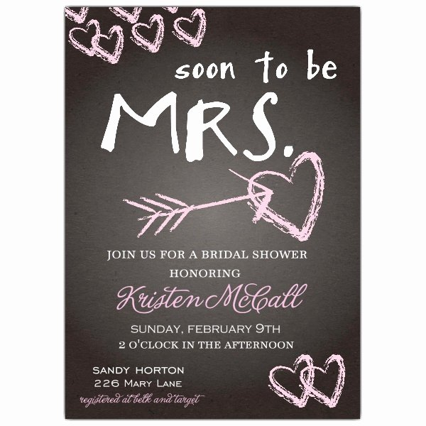 Bridal Shower Invitations Template Inspirational Chalkboard Love Bridal Shower Invitations