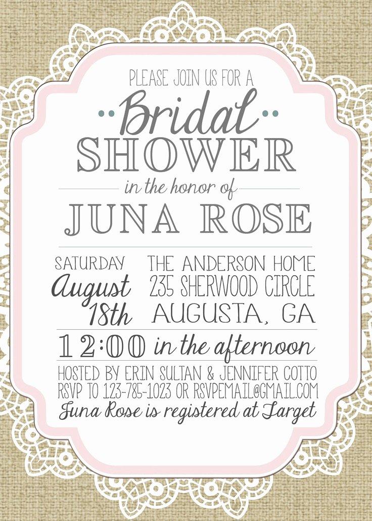 Bridal Shower Invitations Template Inspirational Wedding Invitation Templates Vintage Wedding Shower