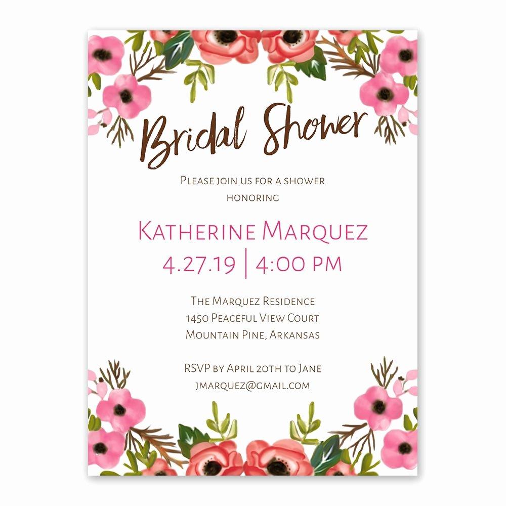 Bridal Shower Invitations Template Lovely Blooming Beauty Bridal Shower Invitation