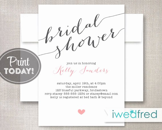 Bridal Shower Invitations Template Lovely Bridal Shower Invitation Bridal Shower Invitation