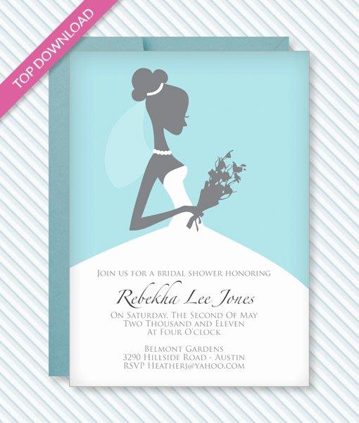 Bridal Shower Invitations Template Lovely Bridal Shower Invitation Template – Download & Print