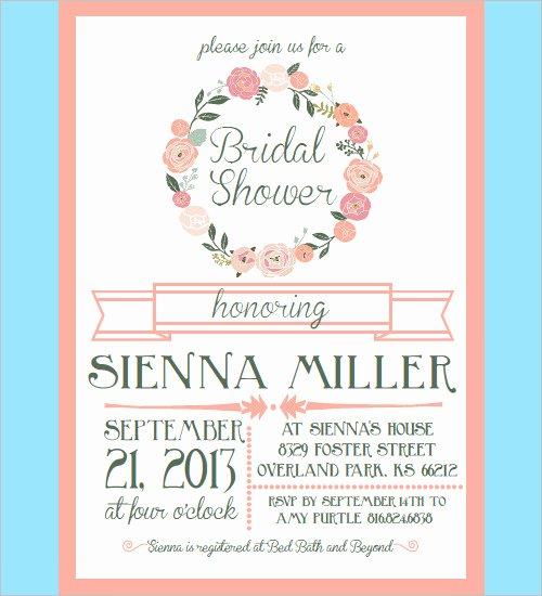 Bridal Shower Invitations Template Luxury 30 Bridal Shower Invitations Templates