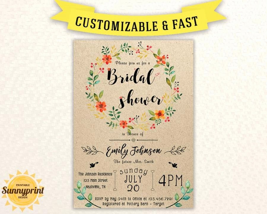 Bridal Shower Invitations Template Luxury Bridal Shower Invites Bridal Shower Vintage Bridal