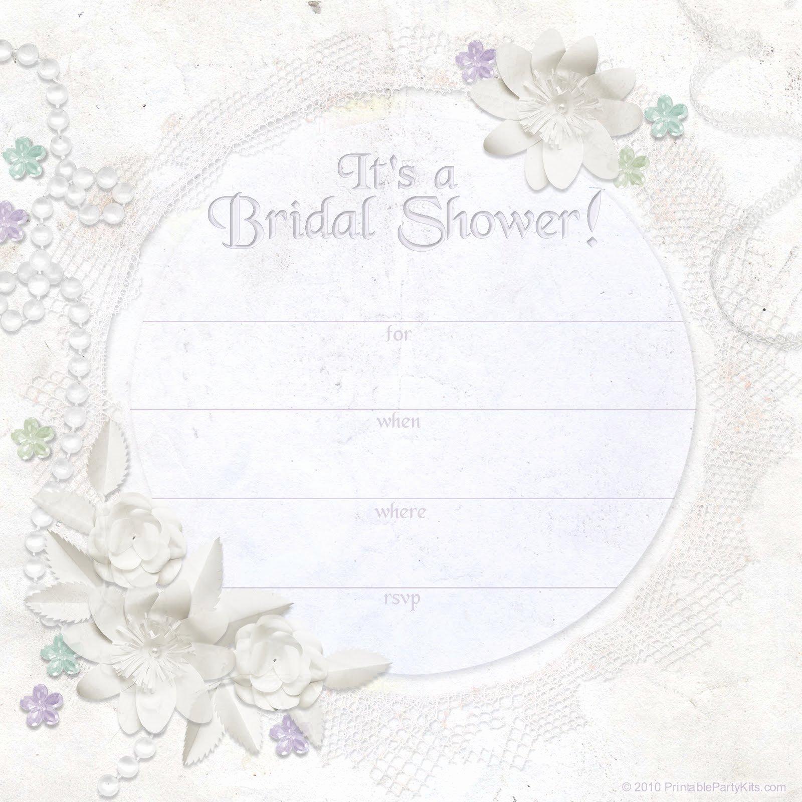 Bridal Shower Invitations Template Luxury Free Printable Bridal Shower Invitations