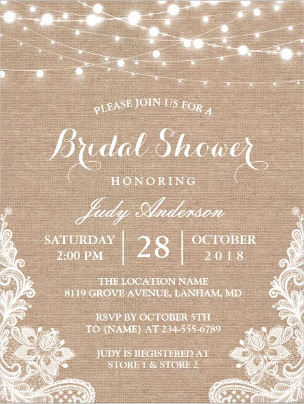 Bridal Shower Invitations Template New 26 Free Bridal Shower Invitations Psd Eps