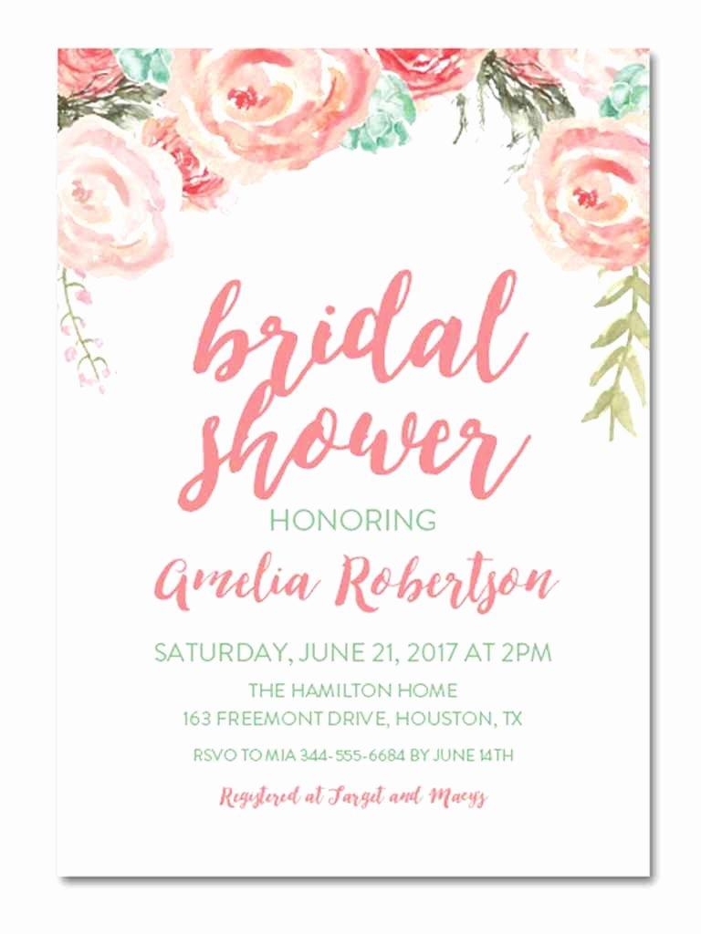Bridal Shower Invitations Template New Printable Bridal Shower Invitations You Can Diy