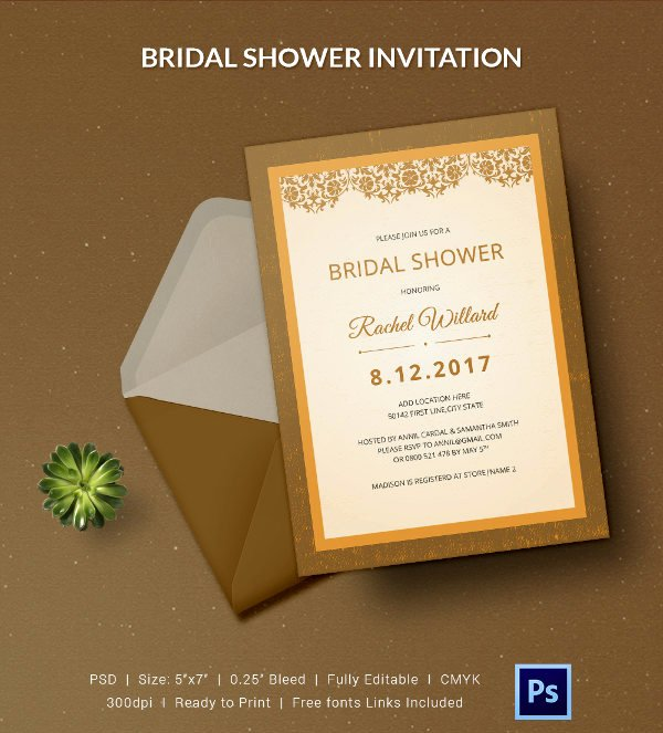 Bridal Shower Invitations Template Unique 25 Bridal Shower Invitations Templates