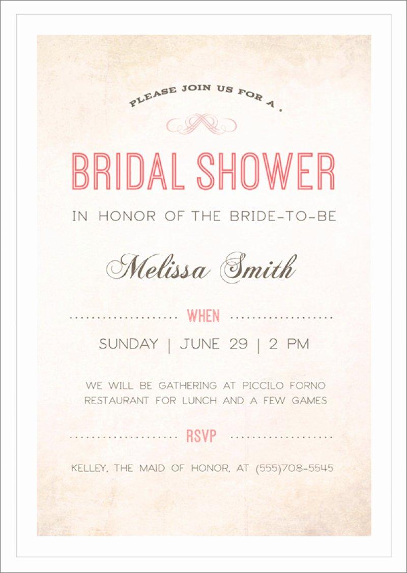 Bridal Shower Invitations Template Unique Bridal Shower Free Template Invitation – orderecigsjuicefo