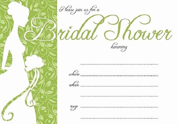 Bridal Shower Invitations Template Unique Bridal Shower Invitations Easyday