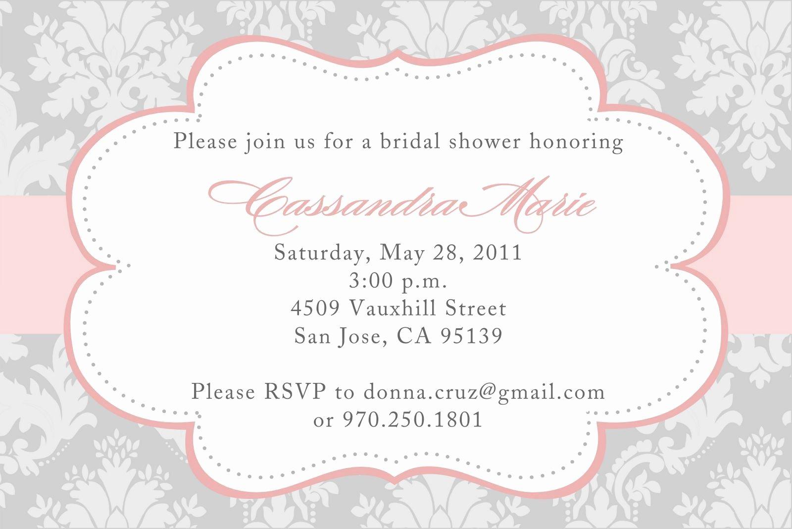 Bridal Shower Invitations Template Unique Bridal Shower Invitations Templates Bridal Shower