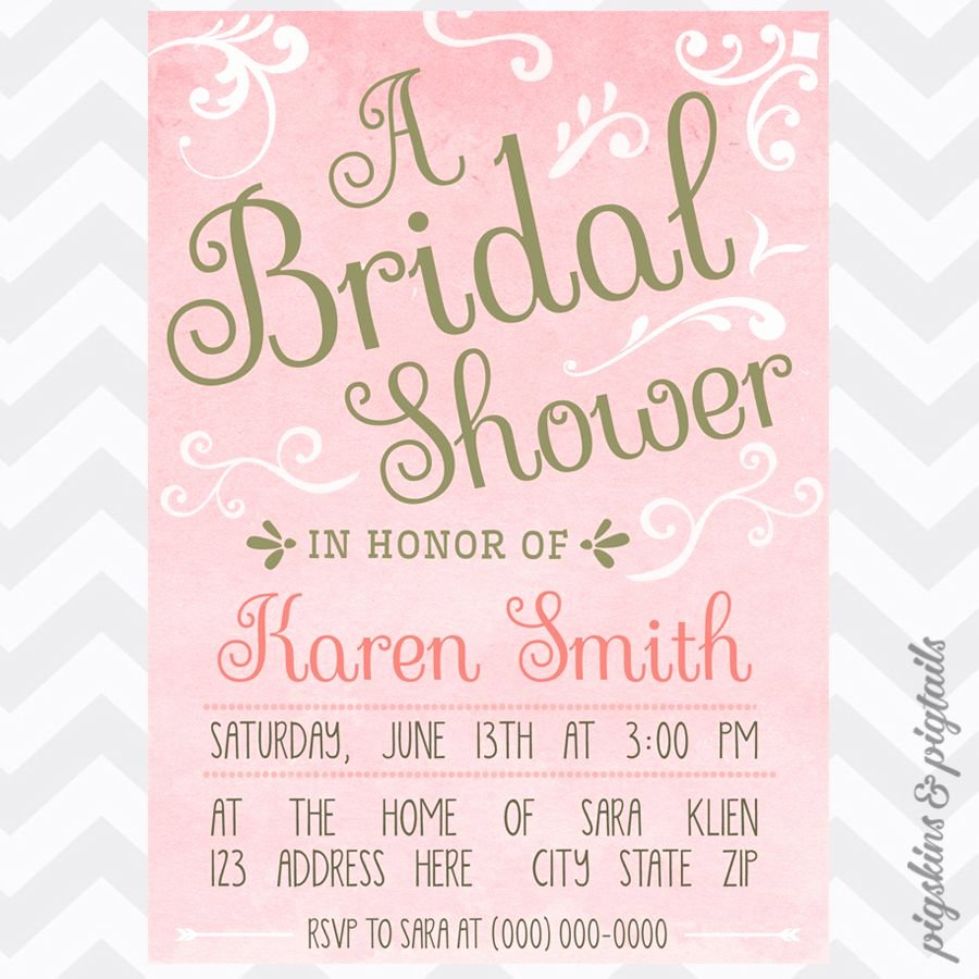 Bridal Shower Invitations Template Unique Ms Word Invitation Template Qualification In Resume Sample
