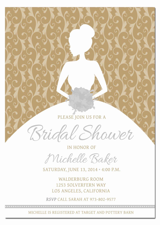 Bridal Shower Invitations Template Unique Printable Diy Bridal Shower Invitation Template with