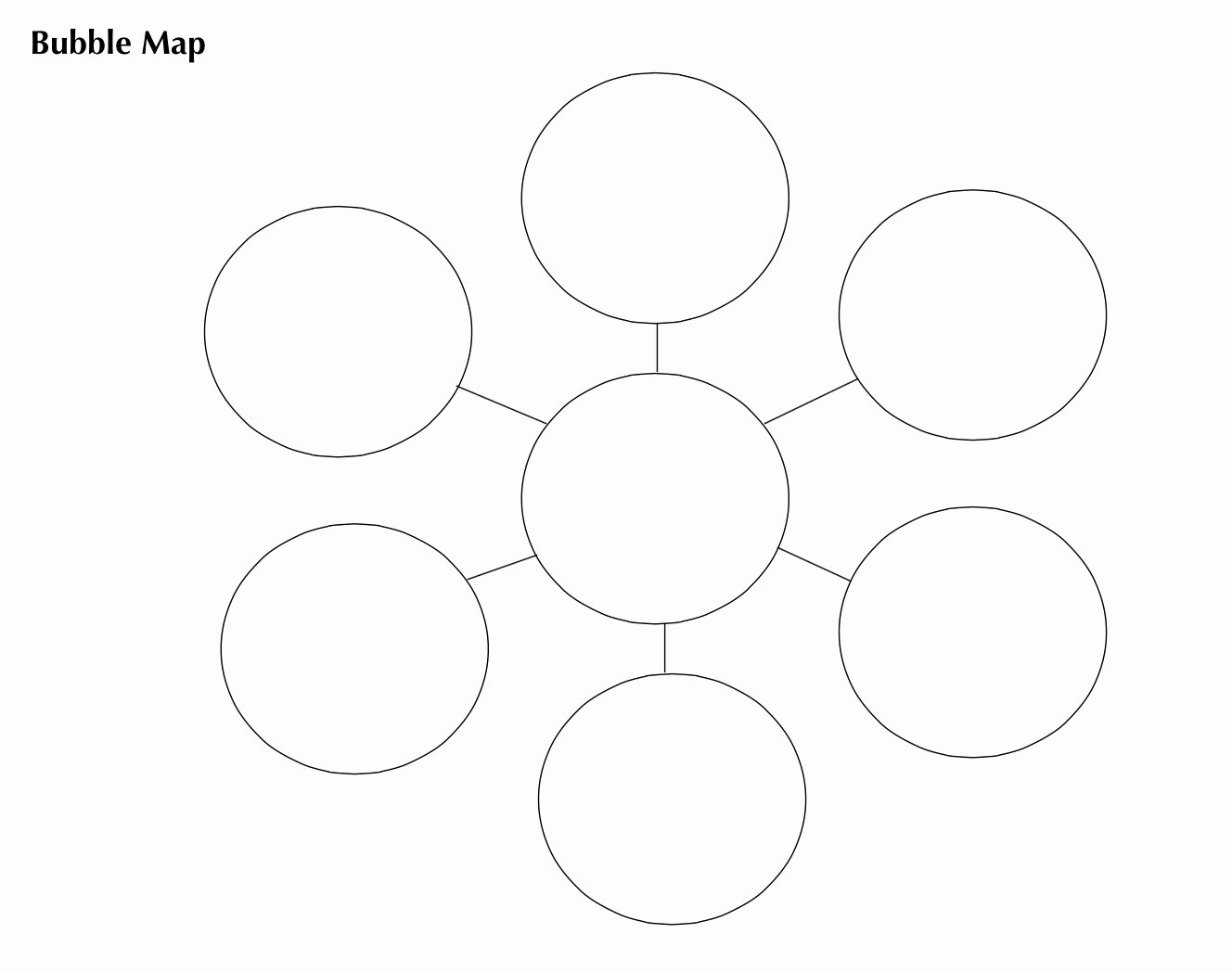 Bubble Map Template Word Unique Vocabulary Graphic organizers Bubble and Double Bubble