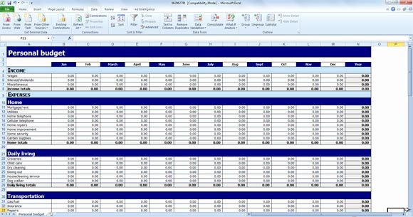Budget Excel Template Mac Awesome Excel Bud Template Mac