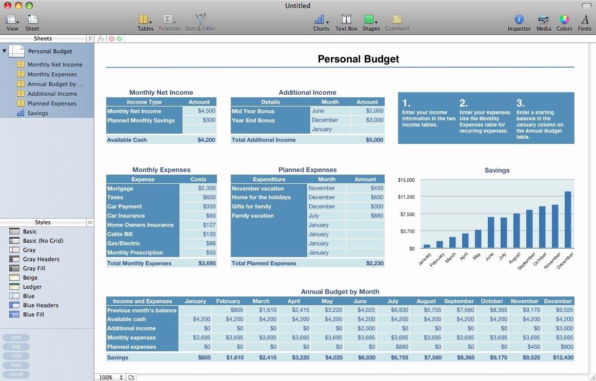 Budget Excel Template Mac Elegant Mac Excel 2008 Personal Bud Template Excel Templates