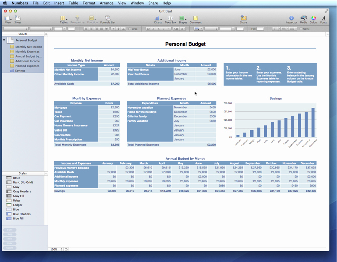 Budget Excel Template Mac Fresh Iwork 09 Vs Fice for Mac 2011